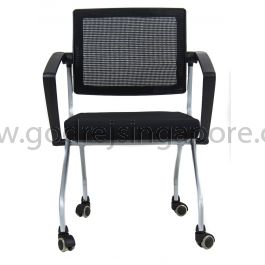 Training Chair With Swivel Back Model Ls542 Black