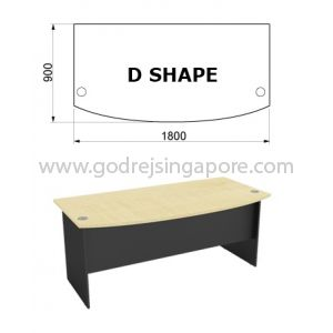 D SHAPED WRITING TABLE 1800mmx900mm