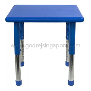 Square Height Adj Table Plastic Top 002-2 Blue