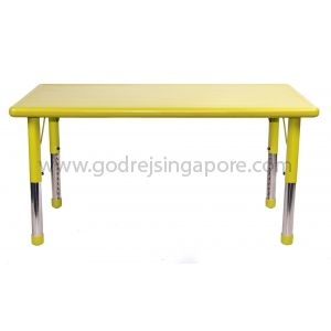 Rectangular Height Adj Table Plastic Top 001-2 - Green