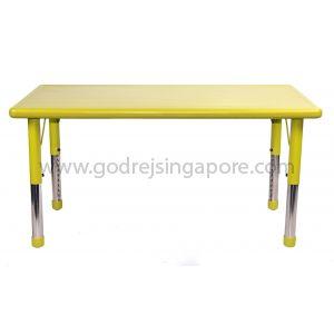 Rectangular Height Adj Table Plastic Top 001-2 - Green