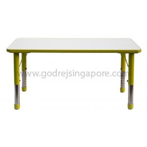 Rectangular Height Adj Table Wooden Top 061 - Green