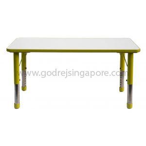 Rectangular Height Adj Table Wooden Top 061 - Green