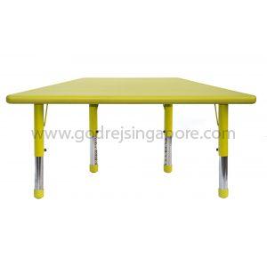Trapezium Height Adj Table Plastic Top 003-2 - Green