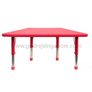 Trapezium Height Adj Table Plastic Top 003-2 - Red