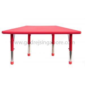 Trapezium Height Adj Table Plastic Top 003-2 - Red