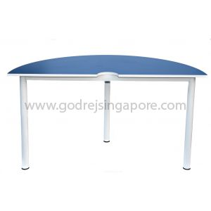 Semi-Circular Table Blue 1400Dia x 750mmH