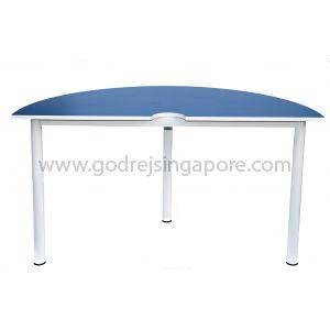 Semi-Circular Table Blue 1400Dia x 750mmH