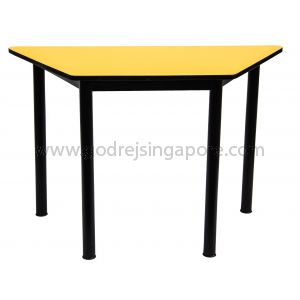 Trapezium Table Yellow