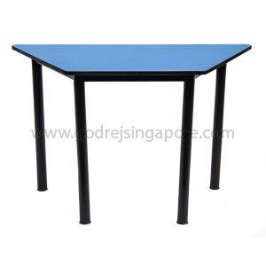 Trapezium Table-Blue