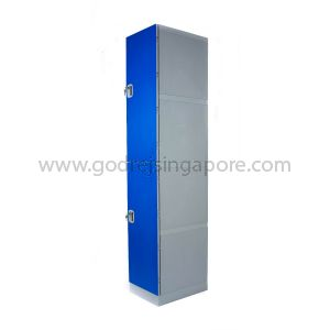 2 Door ABS Plastic Locker Key/latch Lock (SINGLE COLUMN)- DEEP BLUE DOOR
