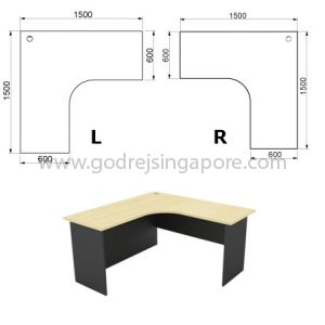 L Shaped Writing Table