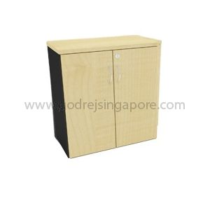 Low Height Wooden Swing Door Cabinet