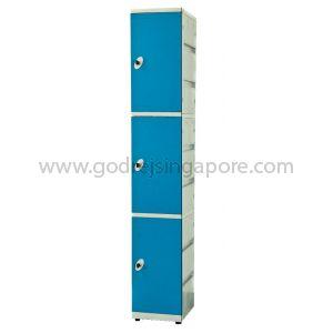 3 Door  ABS Locker Keyless Nr Lock(SINGLE COLUMN)- BLUE DOOR
