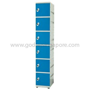 6 Door  ABS Locker Key/latch Lock(SINGLE COLUMN) - BLUE DOOR