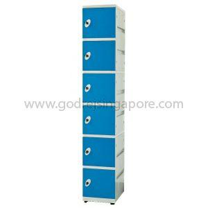 6 Door Abs Locker Keyless Nr Lock (SINGLE COLUMN)- BLUE DOOR