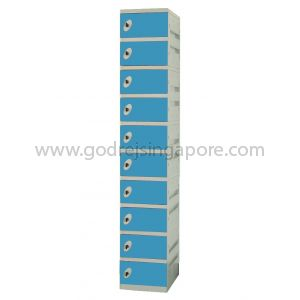 10 Door  ABS Locker Key/latch Lock (SINGLE COLUMN)- BLUE DOOR