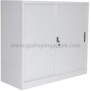 HALF HEIGHT SLIDING DOOR METAL CABINET