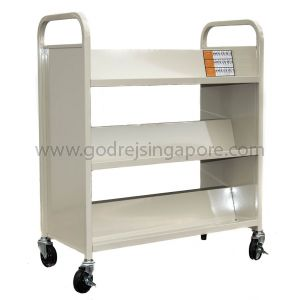 SLOPING LIBRARY TROLLEY