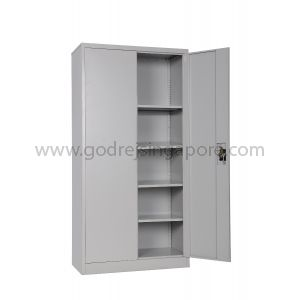 FULL HEIGHT SWING DOOR METAL CABINET 4 SHELVES