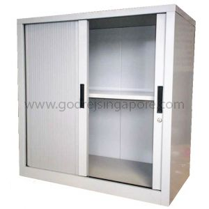 HALF HEIGHT TAMBOUR DOOR CABINET 1000mmW