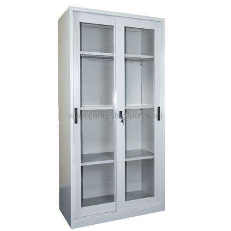Full Height Glass Sliding Door Cabinet Godrej Furniture